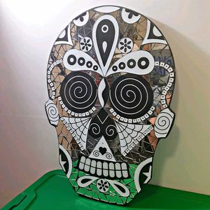 Day of the Dead Glass Mosaic Mirror for Sale in Houston, TX