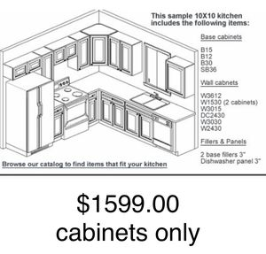 Kitchen cabinets white shaker for Sale in Tampa, FL