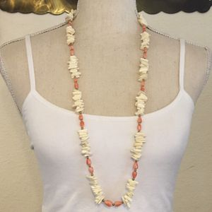 Vintage faux coral two tone long necklace for Sale in Henderson, NV