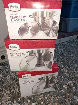 New Aluminum Pots. 8qrt. 12qrt. 16qrt for Sale in Riverside, CA