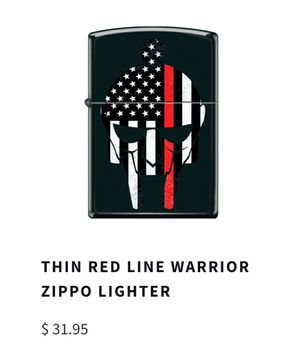 Thin Red Line Warrior Lighter for Sale in Boynton Beach, FL