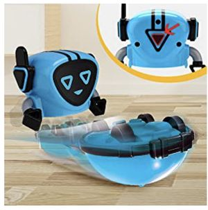 Novelty Game Toy Spinning Top Robot Battle Gyro Pull Back Car Spinning in Wind Up Gyro Toy for Kids Boys Girls Gifts (Blue) for Sale in Santa Ana, CA
