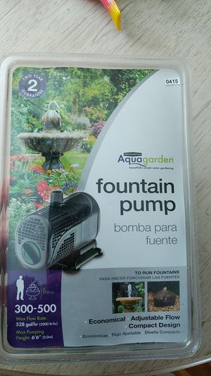 Fountain pump / pond never open must have if you want water feature for Sale in Hampstead, NH