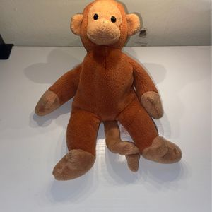 TY Beanie Baby Monkey Plush Bongo 1995 Brown Stuffed Animal Toy for Sale in Boynton Beach, FL