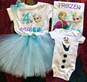 Elsa/Anna ❄️ Birthday Outfit & Family Shirt/Olaf Onesie for Sale in Long Beach, CA