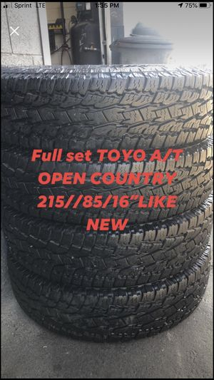Full set TOYO open country215/85/16 like new for Sale in West Valley City, UT