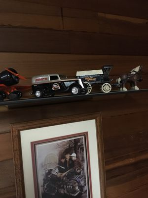 Harley collection, toys, banks, trains. Sturgis products. Belt nickel collection. for Sale in Seattle, WA