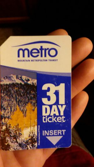 Bus pass x2 for Sale in Colorado Springs, CO