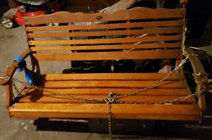 Jordan wooded 2 person porch swing for Sale in Chicago, IL