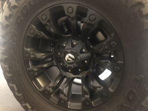 "Fuel Vapor Rims 18"" with Toyo MT Tires Good condition for Sale in Las Vegas, NV"