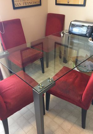 Glass Kitchen table (aka dinner table or breakfast table) for Sale in San Francisco, CA