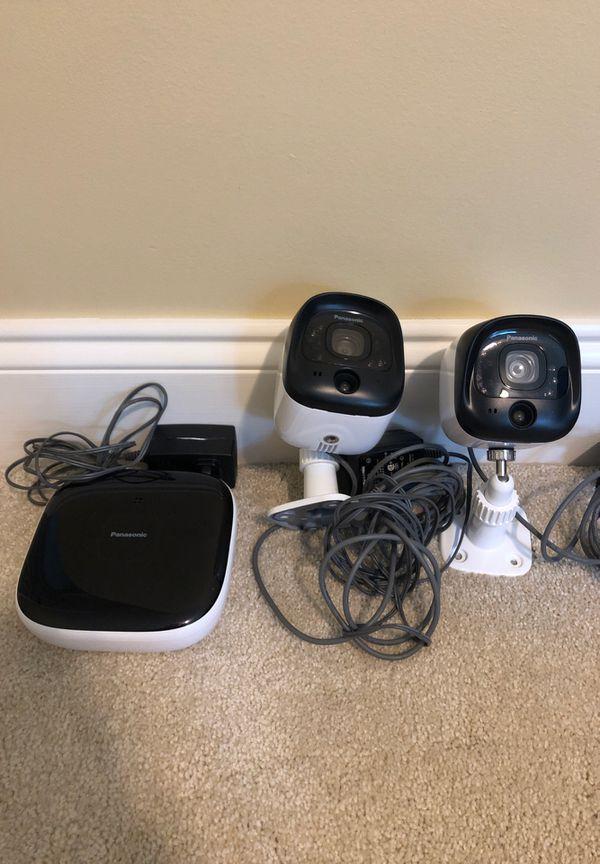 Panasonic Surveillance Cameras and Hub