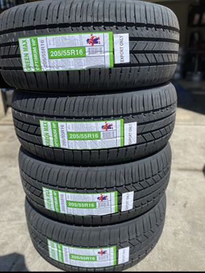 205/55R16 Greenmax $260 Four Brand New Tires ( Installation & Balancing Included ) for Sale in Rialto, CA
