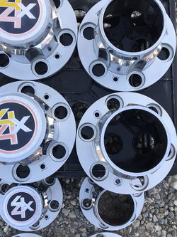 6 Lug Caps Chevy Toyota Jeep 6 Lug 4x4 Covers 4x4 Hubcaps C10 Landcruiser Wagoner Tacoma for Sale in Corona,  CA
