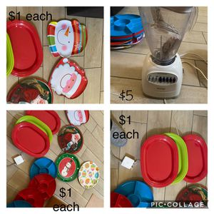 Holiday dishes & blender for Sale in Las Vegas, NV