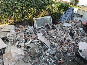 """""""Free demo leftovers"""" Concrete/ Stucco / brick pieces /wood gone today for Sale in Westminster, CA"""