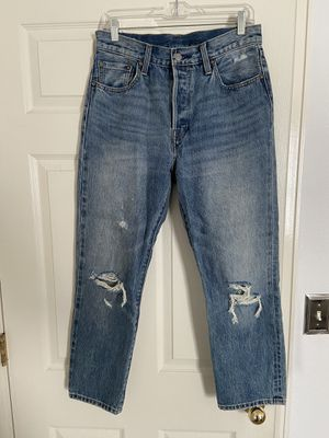 Levi's 501 Women's distressed straight leg jeans, size 27 for Sale in Boulder, CO