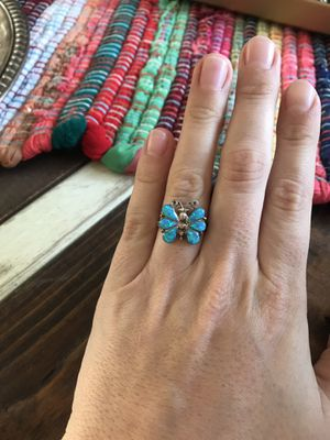 925 Sterling silver opal butterfly ring for Sale in Madera, CA