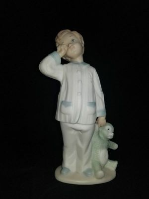 Lladro Golden Memories Off to Dreamland Boy & Stuffed Bear Figurine 1991 for Sale in Portland, OR