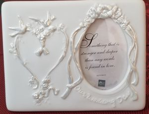 Wedding Frame - Porcelain - By Russ -handpainted for Sale in Azusa, CA