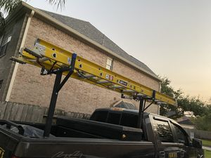 20' ext. ladder AND Ladder rack for Sale in Cypress, TX