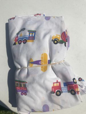 Train airplane firetruck twin sheet set with pillowcase for Sale in Portsmouth, VA