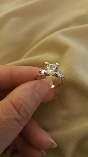 Dazzling women fashion white sapphire wedding ring size 6 for Sale in Moreno Valley, CA