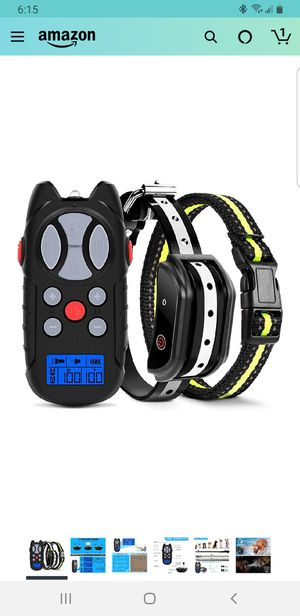 Flittor Shock Collar for Dogs, Dog Training Collar, Rechargeable Dog Shock Collar with Remote for Sale in Fontana, CA