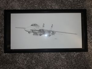 F-14 framed airplane picture for Sale in Auburn, WA