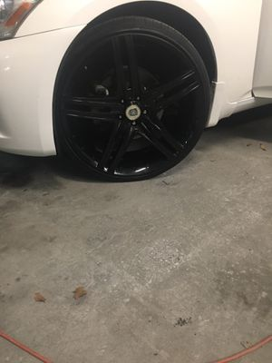 """22"""" black rims with tires $800 for Sale in Sayville, NY"""