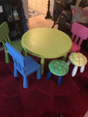 Kids table and chairs for Sale in Annandale, VA