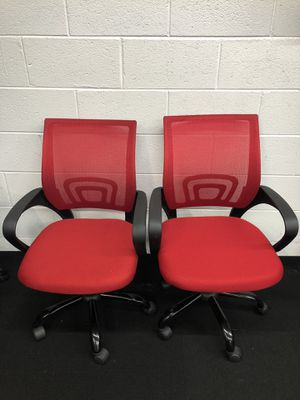2 BRAND NEW RED ADJUSTABLE MESH OFFICE CHAIRS for Sale in Lawrenceville, GA