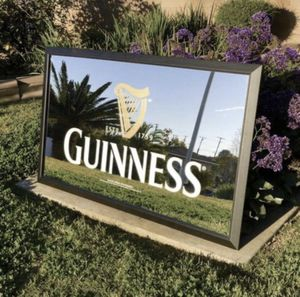"""Guinness Beer Bar Mirror Huge """"New"""" pick up only for Sale in Montebello, CA"""