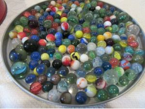 Vintage Collectible Glass Marbles small to large marbles 5 lb for Sale in Woodbine, NJ