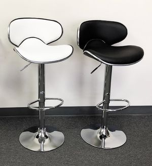New $40 each Barstool Modern Chair Swivel Adjustable Bar Stool PU Leather (White or Black) for Sale in South El Monte, CA