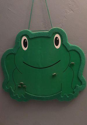 Cute kids green frog cork board bulletin board $5 for Sale in San Diego, CA