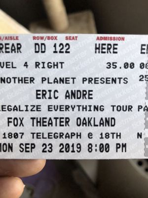 Eric Andre Legalize Everything Tour (2 Tickets) for Sale in Oakland, CA