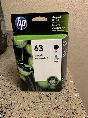 HP ink 2 - pk - 63 for Sale in Austin, TX