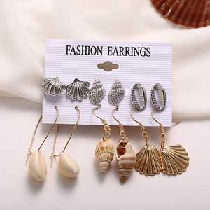 Fashion Conch Shell Drop Earrings Pearl Starfish Leaves Scallops for Sale in Los Angeles, CA