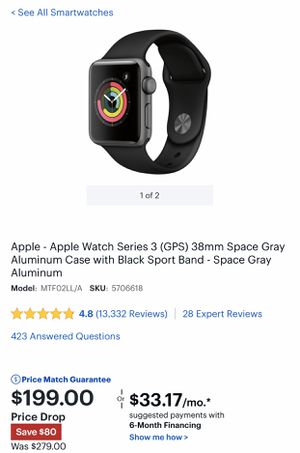 Apple Watch Series 3 Model A1858 - BRAND NEW for Sale in Kirkland, WA