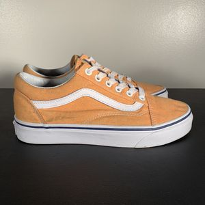 Vans Old Skool Lace Up Low Top Sneakers Yellow for Sale in Philadelphia, PA