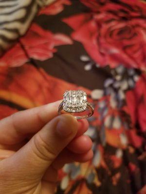 Ring silver esterling zirconia stamp 925 size 9 for Sale in Wichita, KS