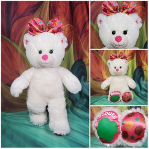 """Build a Bear Girl Scout Cookies White Teddy BAB 16"""" Stuffed Plush w/ Pink Bow for Sale in Dale, TX"""