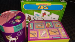 Crocodile Creek puzzles and ABC'S match me game for Sale in San Jose, CA