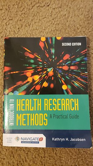 Introduction to Health Research Methods: A Practical Guide by Kathryn H. Jacobsen *includes online course material access code! for Sale in Baton Rouge, LA