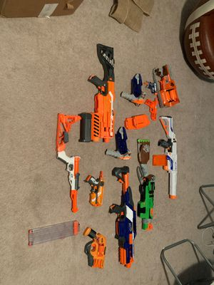 12 nerf guns with 3 cartridges for Sale in Silver Spring, MD