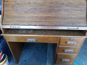 Vintage Roll Top secretary desk for Sale in Anaheim, CA