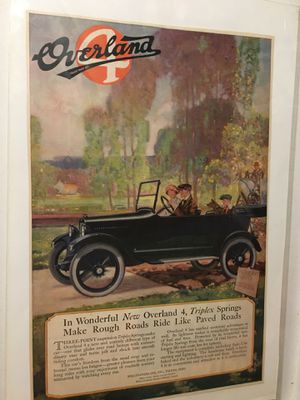Authentic 1917 Overland 4 Print Ad for Sale in San Antonio, TX