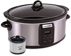 Crock-Pot 7 Quart Programmable Slow Cooker with Little Dipper Warmer for Sale in Lafayette, CA