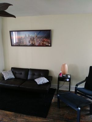 Futon end table picture frame chair 400 for Sale in Philadelphia, PA